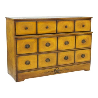 1930s Traditional 6-Drawer Walnut Chest For Sale