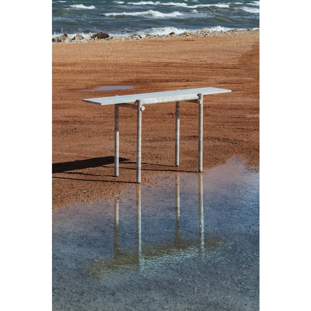 Original Ocean Travertine Console by Clement Brazille For Sale - Image 9 of 13