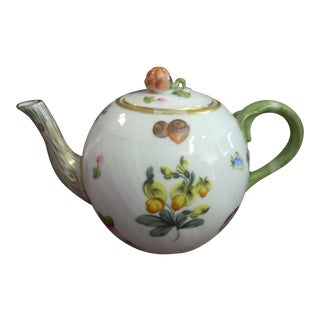 Herend Floral with Gold Details Queen Victoria Tea Pot For Sale