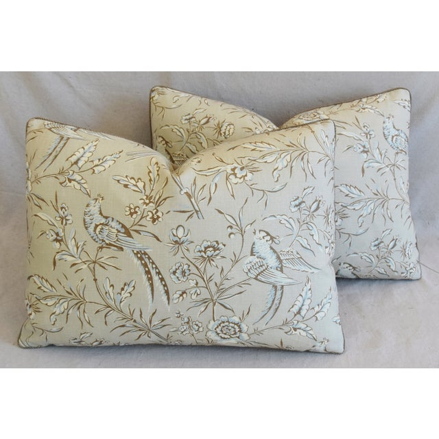 """Scalamandre Aviary & Velvet Feather/Down Pillows 22"""" X 16"""" - Pair For Sale - Image 12 of 13"""