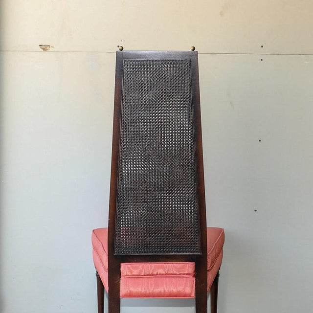 1950s Adrian Pearsall Style Vintage Cane Back Side Chairs - a Pair For Sale - Image 5 of 11