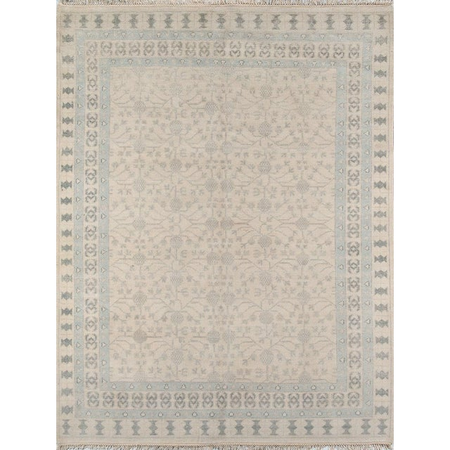 """Textile Erin Gates Concord Sudbury Ivory Hand Knotted Wool Area Rug 5'6"""" X 8'6"""" For Sale - Image 7 of 7"""