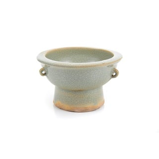 Chinese Antique Crackled Green Celadon Bowl