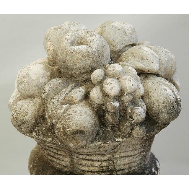 Mid-Century Plaster Vase Sculpture with Fruit Centerpiece - Image 10 of 11
