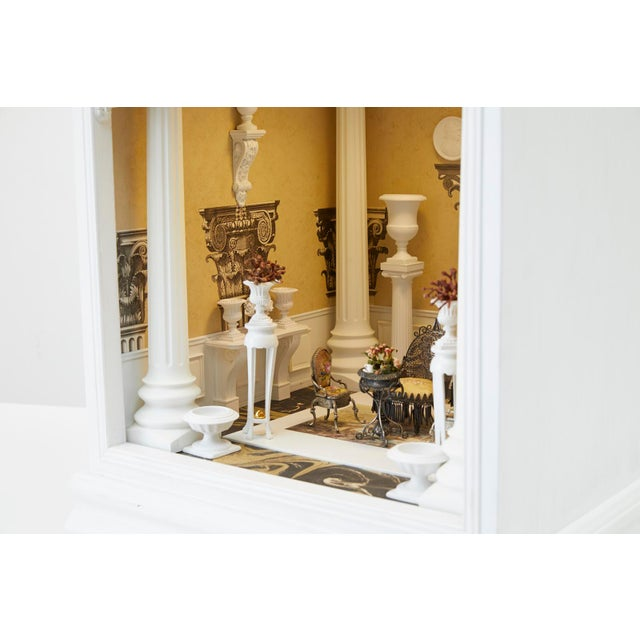 Neoclassical London Museum Miniature Doll House by Tom Roberts For Sale - Image 12 of 13