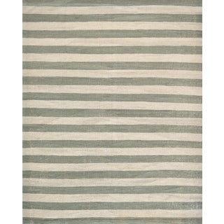Mansour Modern Swedish Inspired Handwoven Wool Flatweave Rug For Sale