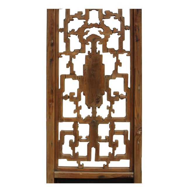 1950s Chinese Vintage Light Brown Relief Motif Wood Wall Hanging Art For Sale - Image 5 of 10