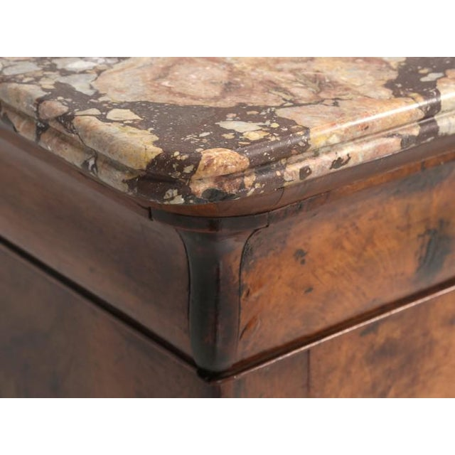 Antique Louis Philippe French Burl-Walnut Commode For Sale - Image 11 of 13