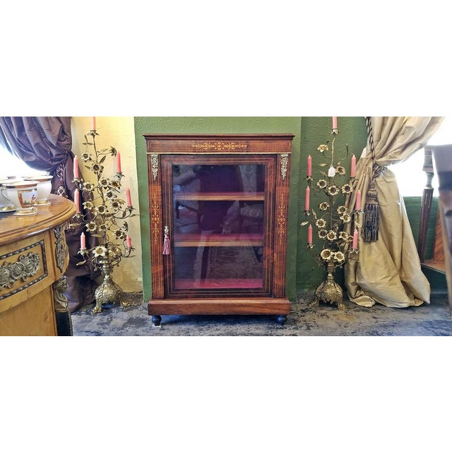 19c French Louis XVI Style Vitrine For Sale In Dallas - Image 6 of 13
