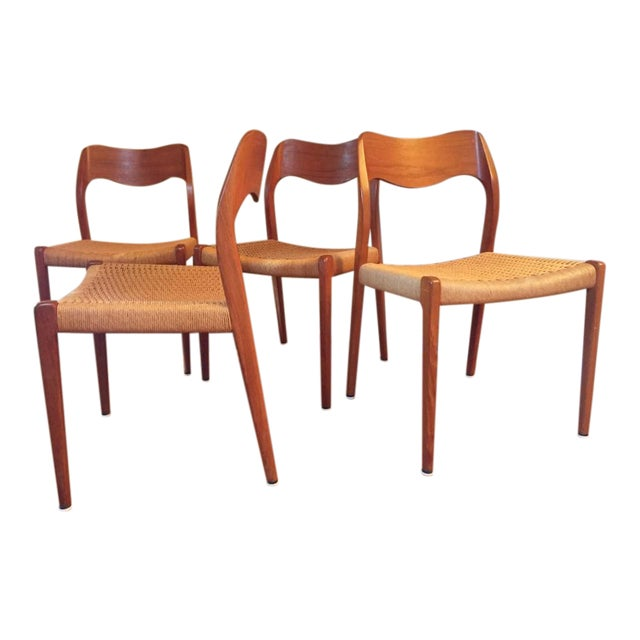 niels moller model 71 danish modern dining chairs set of 4 chairish