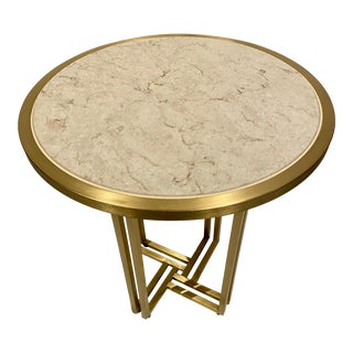 Modern Vaughan Benz Round Gold Table For Sale
