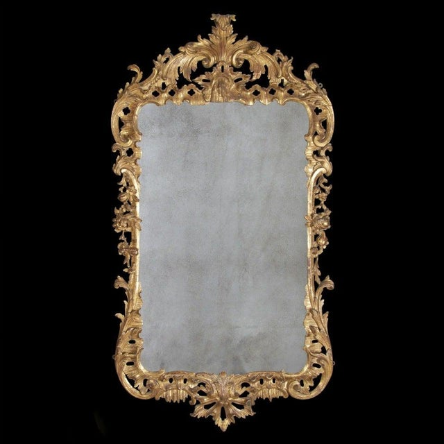 Gold George II Giltwood Mirror, Circa 1750 For Sale - Image 8 of 9