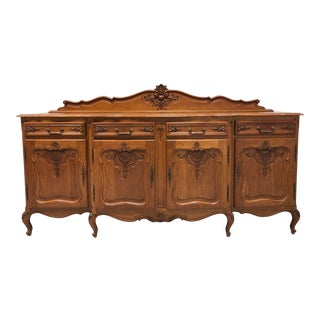 XL Vintage Tiger Oak French Country Style Sideboard For Sale