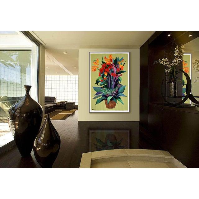 Pot De Fleurs Acrylic Painting - Image 5 of 8