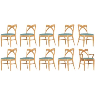 Paul Frankl Dining Chairs for Brown Saltman - Set of 10 For Sale