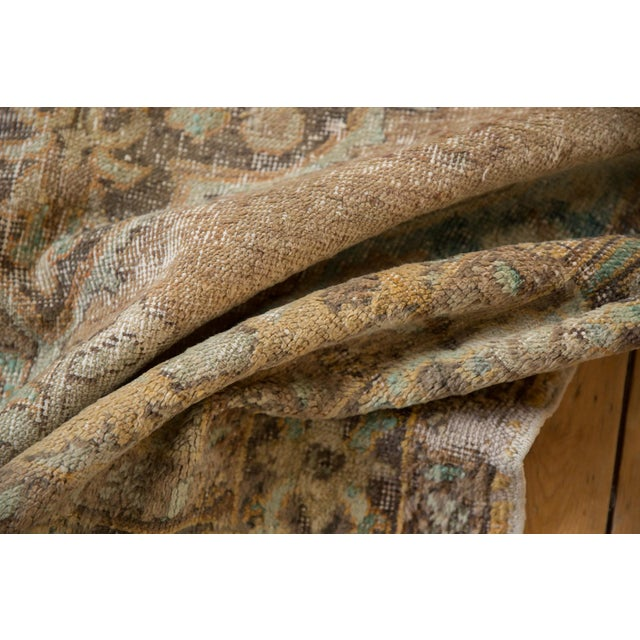 """Shabby Chic Vintage Distressed Oushak Carpet - 5'6"""" X 8'6"""" For Sale - Image 3 of 13"""
