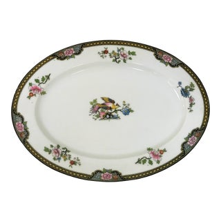 "Japanese Noritake Porcelain Serving Plate in ""Pheasant"" Pattern Circa 1920's For Sale"