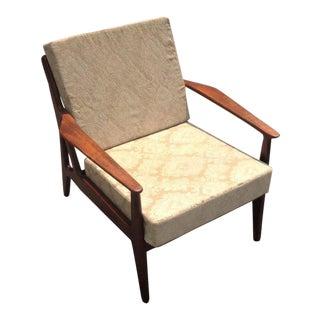 1960s Danish Modern Arne Vodder for Vamo Teak Model 6 Club Chair For Sale
