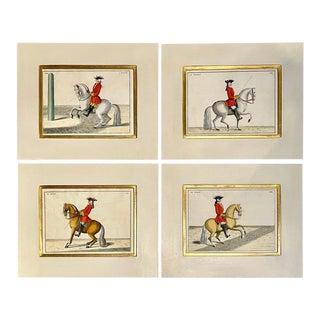 Four Engravings of Horse Riders Le Soldat, Le Grand, Le Diligent, L' Enjoue For Sale
