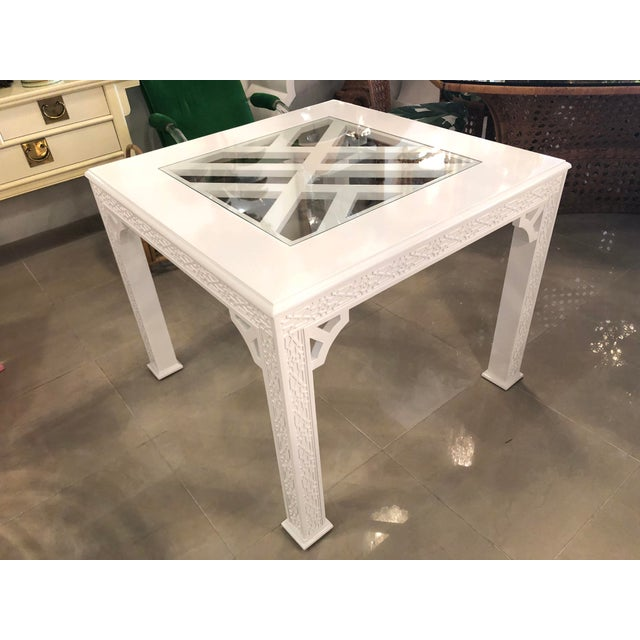 Chinese Chippendale Lacquered Game Dining Table For Sale - Image 9 of 10