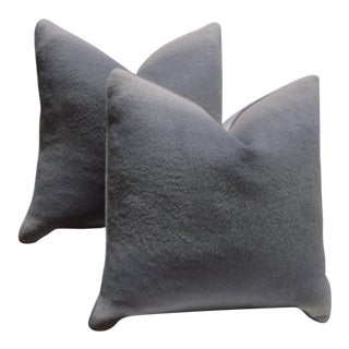 """Pair of Custom 24"""" Pink & Grey Ombre Alpaca Pillows For Sale"""