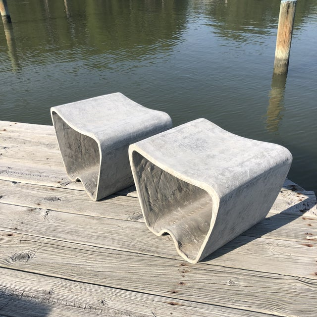 1960s Mid Century Guhl Wasler Cement Garden Stools - a Pair For Sale In Washington DC - Image 6 of 10