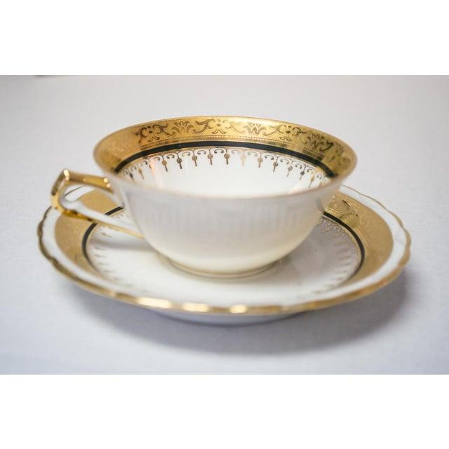 Vintage French Porcelain Dinner Set - Set of 42 For Sale - Image 5 of 10