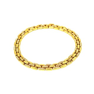Ciner Crystal Inlaid Gold Choker For Sale