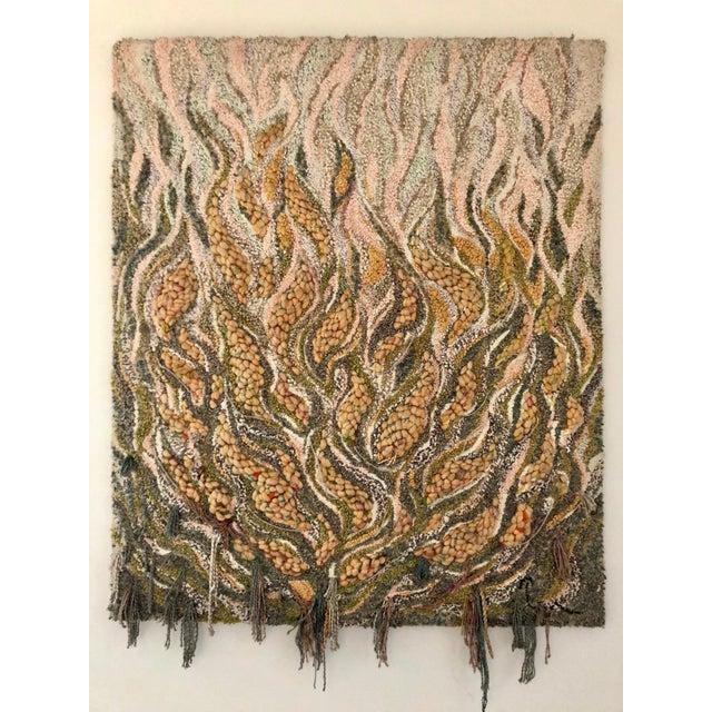 """Canto Al Fuego"" Textile Art For Sale - Image 9 of 9"