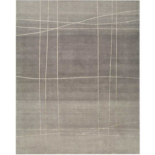 From our ModernArt Collection, this handmade Tibetan rug can be customized in color, shape and size upon request. Standard...