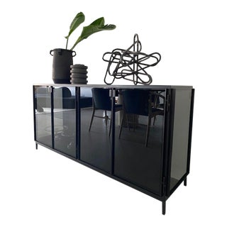 Anders Metal and Glass Sideboard by Ethnicraft For Sale