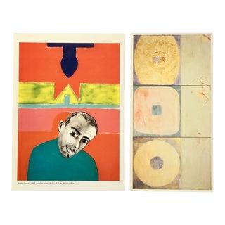 Francesco Clemente Vintage Gallery Announcement Prints - a Pair