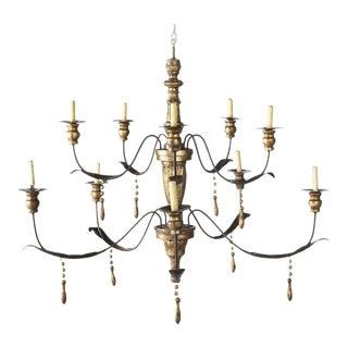 Niermann Weeks Italian Baroque Style 12 Light Chandelier For Sale