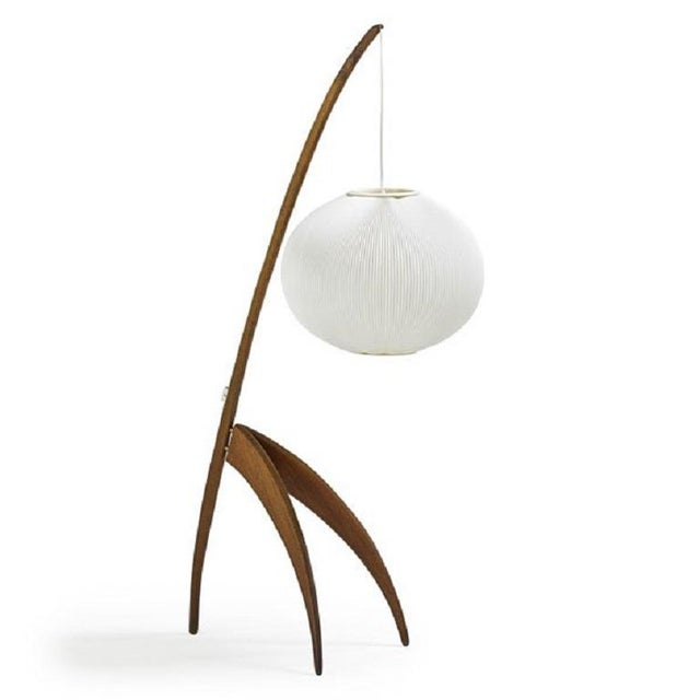 Rispal Lighting Mid Century Modern French Floor Lamp by Rispal For Sale - Image 4 of 4