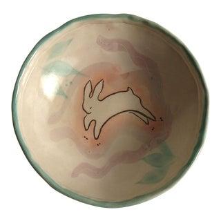 Studio Ceramic Hopping Rabbit Bowl