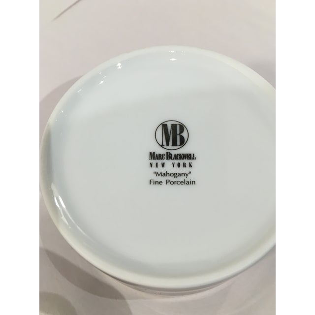 Marc Blackwell Mahogany Coffee Pot & 2 Coffee Cups - Image 5 of 7