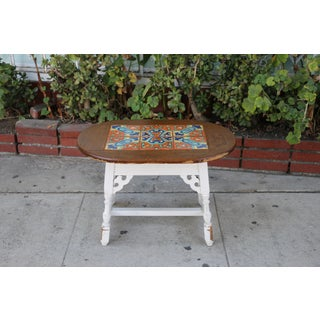 1980s Mission Style Small Tile Top Coffee Table Preview