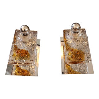 1960s Mazzega Wall Sconces - a Pair For Sale