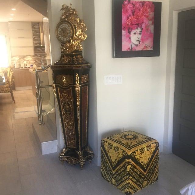 0d333f99c35 Gianni Versace Gold Black Barocco Custom Made Velvet Ottoman For Sale -  Image 11 of 11