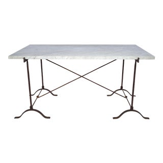 19th Century French Campaign Marble Table For Sale