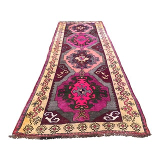 "Vintage Anatolian Caucasian Runner-3'9'x11'7"" For Sale"