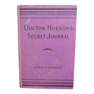 1930s Doctor Hudson's Secret Journal First Edition Book For Sale