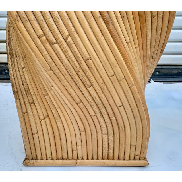 Modern Pair of Pencil Bamboo Modern Console Tables Att. To Crespi For Sale - Image 3 of 10