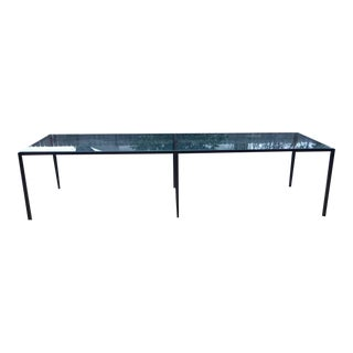 Vintage Knoll Style Steel and Glass Coffee Table