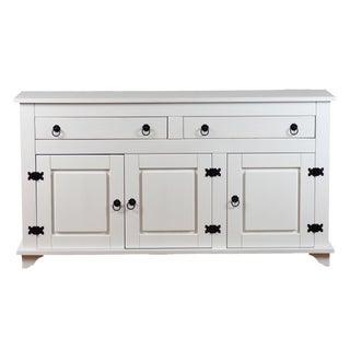 Reclaimed Pinewood Lisa White Buffet Cabinet