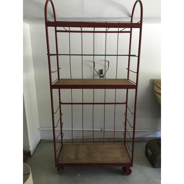 Red Industrial Cart on Wheels - Image 2 of 6