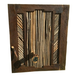 Custom Made Barnwood/Saguaro Rib Jewelry Cabinet
