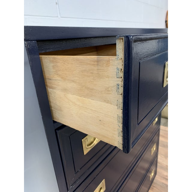 1950s Campaign Style Refinished Dresser For Sale In Chicago - Image 6 of 8