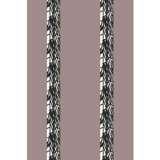 Luxe Stripe Medium Mauve Wallpaper For Sale