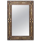 Image of Moroccan Rectangular Metal Inlay Mirror For Sale